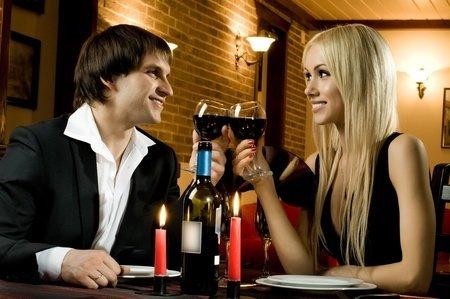 romantic evening date in hotel room